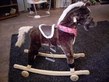 vintage rocking, rolling, singing horse in Yucca Valley, California