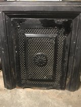 Antique Fireplace Frame and Front Cover in Bartlett, Illinois