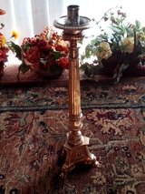 Antique Altar Single Brass Candlestick, Tripod Base, Claw Feet, Victorian, Church in Orland Park, Illinois