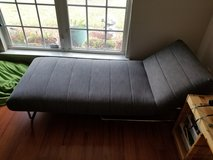 Urban Outfitters Gray Linen Couch Bed Chaise in Warner Robins, Georgia