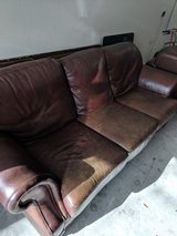 Leather Couch and Chair with Ottoman in Houston, Texas