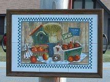 country tile folk art picture or serving tray in Byron, Georgia