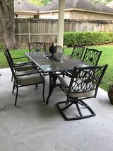 Patio dining set in Houston, Texas