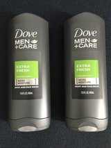 2x Dove Men +Care Extra Fresh Micro Moisture Body and Face Wash in Okinawa, Japan