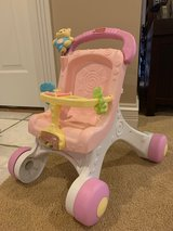 Fisher Price Brilliant Basics Stroller Walker Stroll Along Baby Doll Pink in Aurora, Illinois
