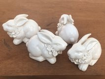 5 Ceramic Bunny Rabbits in Bolingbrook, Illinois