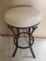 """Beautiful """"New"""" Crosley Furniture Metal Barstool with Ivory upholstered Swivel Seat in Morris, Illinois"""