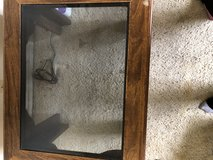 Wooden End Table with Glass Top in 29 Palms, California