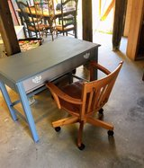 chalk painted desk with chair in Cherry Point, North Carolina