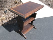 Vintage Wood Library Trestle Table in Aurora, Illinois