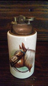 Vintage porcelain Hyalyn Horse cigarette lighter in Kingwood, Texas
