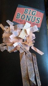 Vintage big bonus stamps and 8 books in Cleveland, Texas