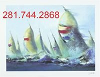 "Stunning Sailing ""July Sails"" wall art Framed, Signed, Certificate of Authenticity from art gall... in Houston, Texas"
