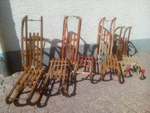 Antik Vintage Mid century Sled  collection at present. in Wiesbaden, GE