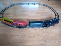 Vintage Marx wind up train set with tracks and key in Chicago, Illinois