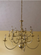 Brass chandelier in Fort Benning, Georgia