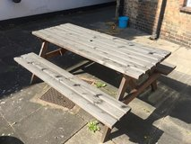 Wooden Picnic Bench 71 inches-- Must sell before 23 April 19 in Lakenheath, UK