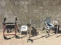 Handicapped Items: Walker, Shower Chair, Portable Toilet in Yucca Valley, California