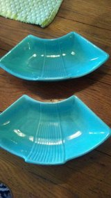 Two blue trays used for ashtrays, candydish, etc. in Wilmington, North Carolina
