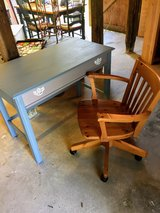 solid wood desk and chair in Cherry Point, North Carolina