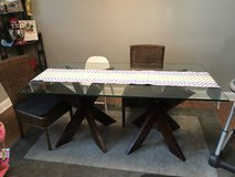 Glass top beveled table. REDUCED in Plainfield, Illinois
