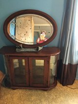 Curio cabinet 13x41 lights in side with mirror in Conroe, Texas