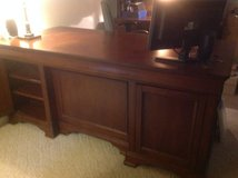 Home office desk plus credenza/hutch, and two book shelves in Plainfield, Illinois