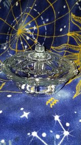 GLASS CANDY DISH WITH LID in Fort Leavenworth, Kansas