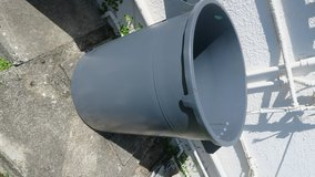 3' tall plastic contaner no holes can keep rain water no lid in Okinawa, Japan