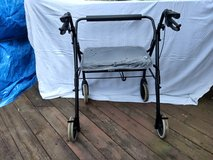 Rollator Walkabout - Lumex RJ4400K Four-Wheel Imperial with Padded Back Bar, Black in Chicago, Illinois