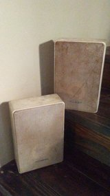 2 silver realistic speakers minimus 22 in Cleveland, Texas