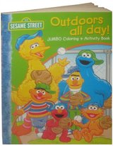 NEW Sesame Street: Outdoors all day JUMBO Coloring & Activity Book in Oswego, Illinois