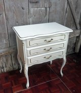 White Chippendale Entryway Cabinet Dresser Endtable in Ramstein, Germany