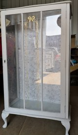 Shabby chic glass fronted display cabinet in Lakenheath, UK