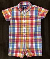 Ralph Lauren Plaid Romper in Bartlett, Illinois