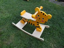 Wooden TIGER Rocking horse in Lakenheath, UK