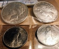 PEACE SILVER DOLLARS 1922 AND 1923 in Leesville, Louisiana