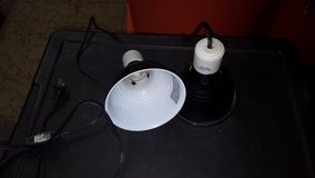 2 black dome light for reptiles 5.5inch in Yorkville, Illinois