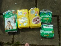 Selection of nappies in Lakenheath, UK