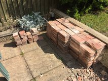 Sort red bricks in Lakenheath, UK