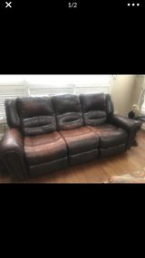 distressed brown reclining couch and loveseat in Chicago, Illinois