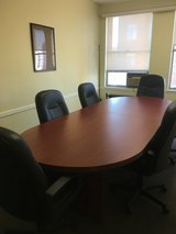 Conference room table with 6 chairs in Plainfield, Illinois