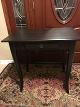 Cute Black Wood Accent Table with One Drawer in Plainfield, Illinois