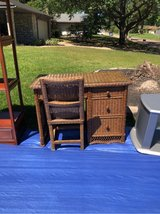wicker desk and matching chair in Houston, Texas