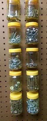 Peg Board Containers – Nails, Screws, etc. in Houston, Texas