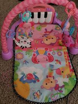 Fisher Price Kick and Play Piano Pink Gym tummy time mat in Byron, Georgia