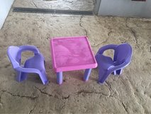 Kid's table and chair in Okinawa, Japan