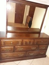 SOLID WOOD DRESSER W/MIRROR in Houston, Texas