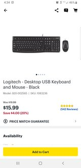Logitech USB wired keyboard and mouse in Macon, Georgia