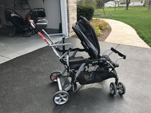 Double sit and stand stroller in Aurora, Illinois